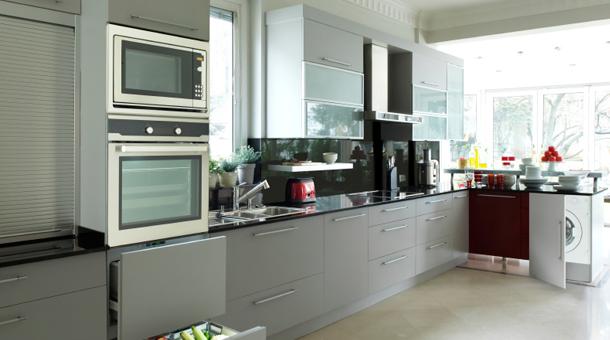 Muebles de cocina mdf gris for Muebles de mdf para cocina